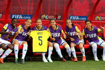 during the FIFA Women's World Cup 2015 Group F match at Moncton Stadium on June 9, 2015 in Moncton, Canada.