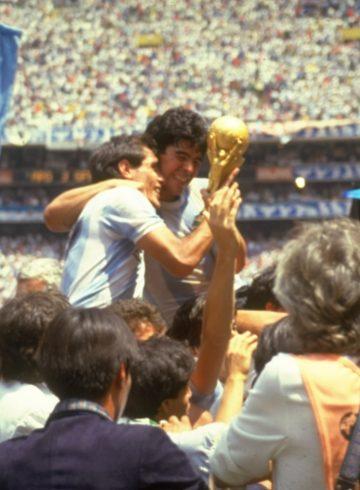 Diego Maradona of Argentina