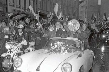 El 1860 se pasea por las calles de Múnich como campeón de la Bundesliga 65-66 - Muniqueando