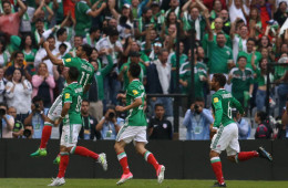 Football Soccer - Mexico v U.S. - World Cup 2018 Qualifiers - Azteca Stadium, Mexico City, Mexico - 11/6/17- Mexico's player Carlos Vela (11) celebrates his a goal against U.S. REUTERS/Edgard Garrido