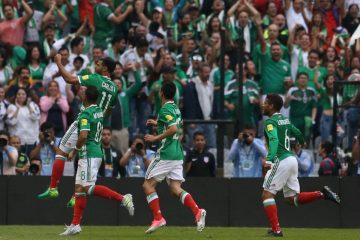 Football Soccer - Mexico v U.S. - World Cup 2018 Qualifiers - Azteca Stadium, Mexico City, Mexico - 11/6/17- Mexico's player Carlos Vela (11) celebrates his a goal against U.S. REUTERS/Edgard Garrido